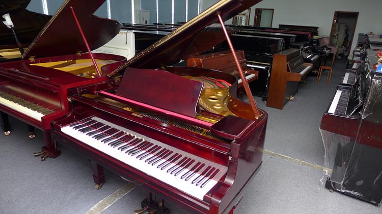 yamaha雅马哈g2酒红色三角钢琴 日本原装进口二手钢琴